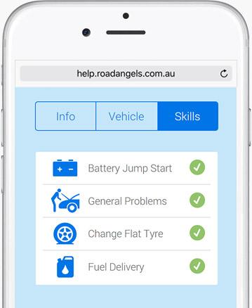 Road Angels web app skills